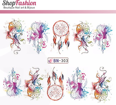 Stickers Ongles Water Décal Nail Art BN-303 - Dream Catcher
