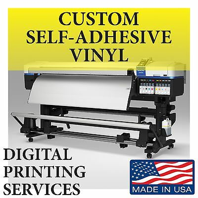 CUSTOM PRINTED WINDOW SIGN VINYL DECALS STICKERS Self-Adhesive FREE LAMINATION