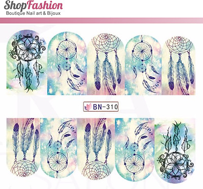 Stickers Ongles Water Décal Nail Art BN-310 - Dream Catcher