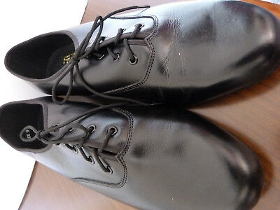 New mens leather black tap/show shoes by Freed of London