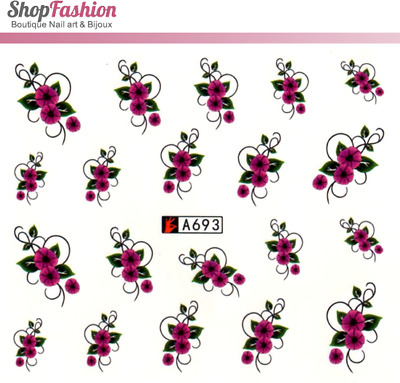 Stickers Ongles Water Décal Nail Art A-693 - Fleur