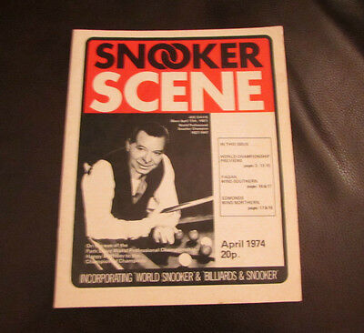 Vintage Snooker Scene Magazine  April 1974