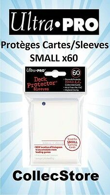 ☺ YU-GI-OH! Lot de 60 Protèges Cartes/Sleeves Ultra Pro SMALL : Blanc
