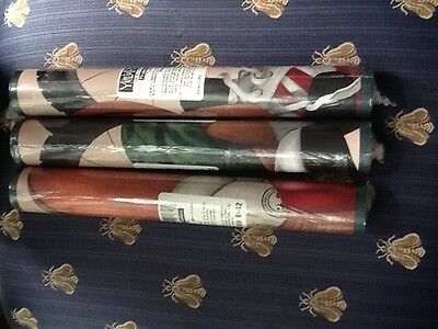 3 rolls York wallpaper  York Sports Border, Multi/Beige Background green trim