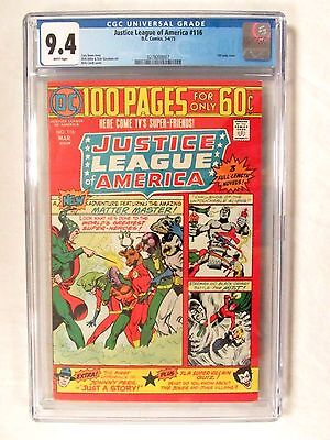 DC Comics Justice League America #116 (1975) 100 White Pages Giant CGC 9.4 BP631