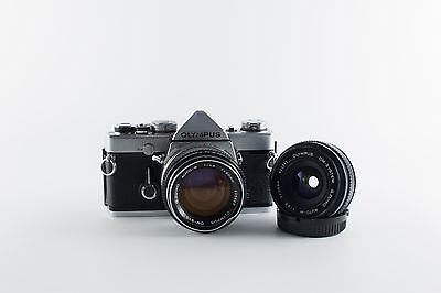 Olympus SLR OM-1 with 50mm f:1.4 and 28mm f:3.5