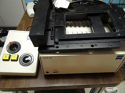 Zeiss AXIO Observer, Axiovert MCU28 Stage with controller and joystick, TESTED