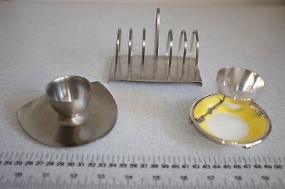 Egg Cups and Toast Rack - Vintage Breakfast Set- Royal Dolton and Old Hall