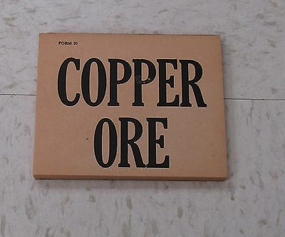 Bisbee, Phelps Dodge Copper Ore Tags, Mining