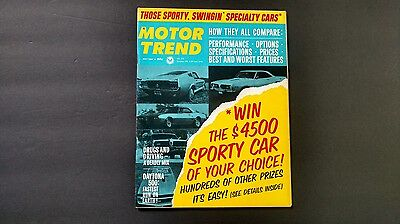 Vintage magazine MOTOR TREND May 1967 Sporty,Swinging Specialty Cars