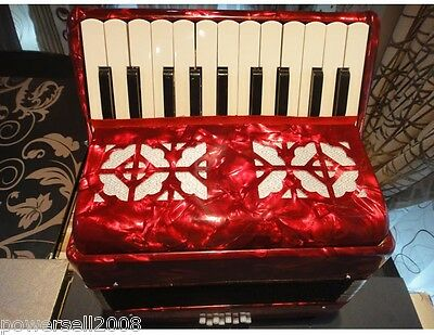 Professional 22 Key 8 Bass Red Children Beginner Musical Instruments Accordion