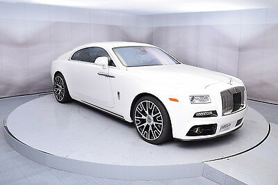 2016 Rolls-Royce Wraith Wraith in English White with 9,081 miles 2016 ROLLS-ROYCE WRAITH WITH MANSORY PACKAGE ENGLISH WHITE LOW MILES