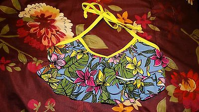 New Girls Roxy Swimsuit Bikini Top Size 8 Multi Colors Floral Tropical