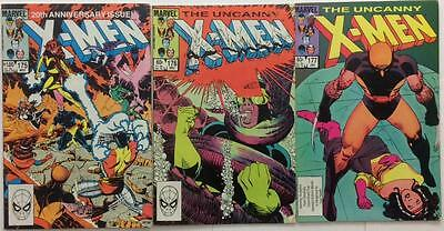 Uncanny X-Men #175,176 & 177 first series (1983 Marvel) 3 x issues