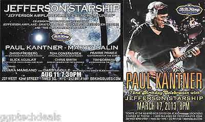 JEFFERSON STARSHIP PAUL KANTNER Concert Handbill Mini-Poster Set  NYC