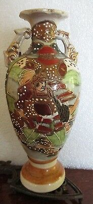 Brown Satsuma Vase Meiji 19th Early 20th Cent Japanese antique
