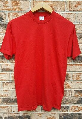 Vintage 90's Jerzees Blank Red T-Shirt Size L Deadstock NWT