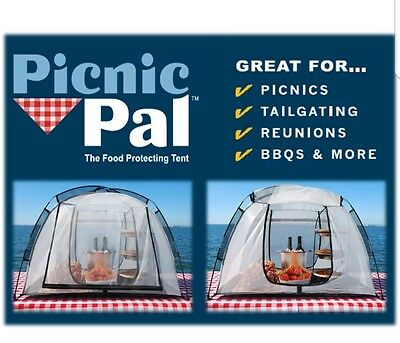 *NEW* Picnic Pal PP-100 The Food Protecting Picnic Size Tent w/ Free Ice Buddy