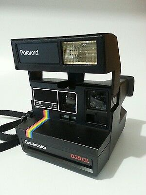 Polaroid Supercolor 635CL Instant 600 Series Film Tested Super Clean