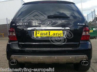 Mercedes Custom Build Stainless Steel Exhaust Cat Back Dual System LTDML02CBDS85