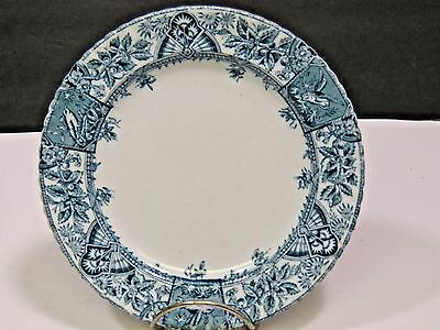 R.No. 39268 Alexandria Wallis Gimson & Co. Blue Transferware Plate Aesthetic