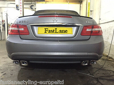 Mercedes E Custom Build Stainless Steel Exhaust Back Box AMG Style Tailpipes