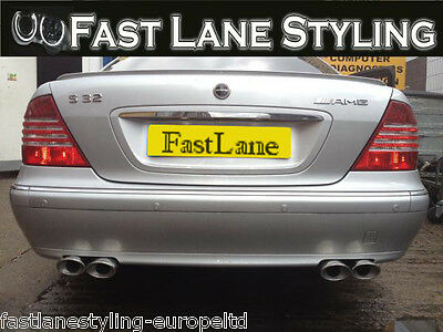 Mercedes S-Class Custom Build Stainless Steel Exhaust Cat Back Dual System MS02
