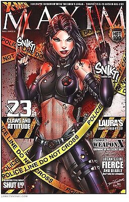 Wolverine Maxim Cover X-23 11X17 Signed Art Print By Jamie Tyndall