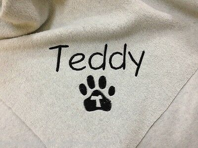Personalised Dog Blanket - Initial Paw
