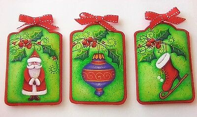 """Robin Mani cute tole painting patterns """"Touches of Christmas - Tin Ornaments"""""""