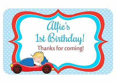 21 Personalised Gloss Baby Shower/ Christening Party , Thank You Stickers  215