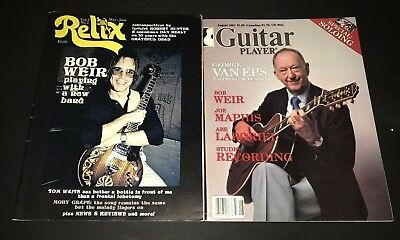 Bob Weir of Grateful Dead Guitar Player and Relix Magazines 1978 1981