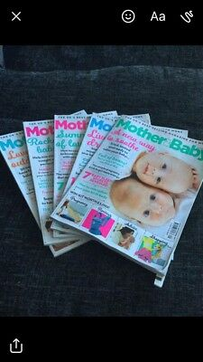 Mother And Baby Magazines x 5 Pregnancy, Newborn And Toddler.