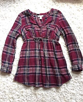 Motherhood Maternity Flannel Shirt Top Plaid Size S New W/ Tag!