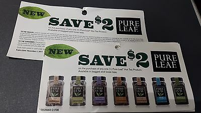 Pure Leaf Coupons - Lot 10x $2.00 - Canada Only