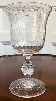 A Lovely Quality Victorian Heavy Large Bubbled Glass Rummer, c.1860. 21cm High.