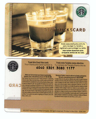 NEW Starbucks Card Double Shot Espresso  (2007)  Mexico Shipped from US