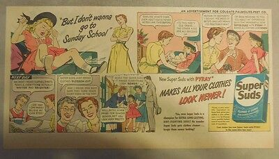 Super Suds Ad: But I Don't Wanna  Go To Sunday School ! 1940's