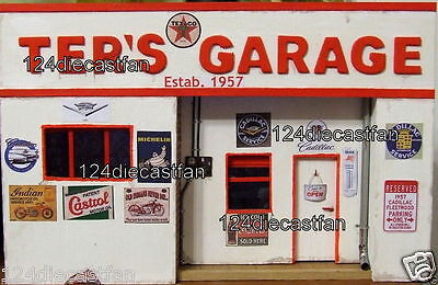 Unique 2D garage mechanic facade to display model car 1/24- 1/25 scale