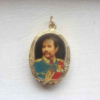 Thailand Siam King Rama V Pendant 24k Pure Gold