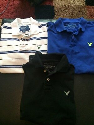 Nice Lot Of 3 American Eagle Polo Shirts Size XS Mens