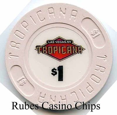 1.00 Chip from the Tropicana Casino in Las Vegas Nevada House
