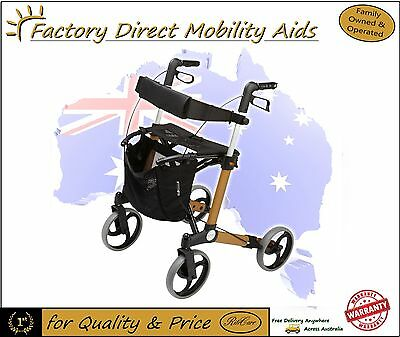 "Alpha 429 Walker Rollator 9"" Wheels Adjustable Handles New Product Free Delivery"