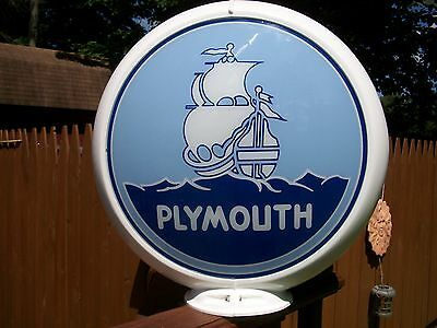 Plymouth Gas Pump Globe & Capcolite Body , New Condition, Never Used