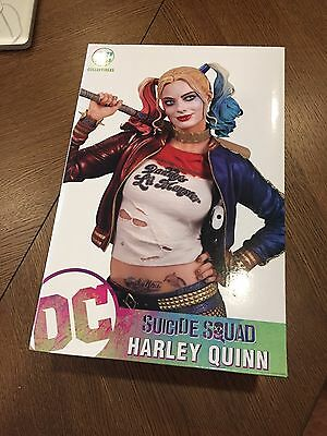 New HARLEY QUINN Statue Suicide Squad Margot Robbie Movie JOKER BATMAN VHTF