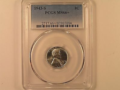 1943-S 1C Lincoln Cent PCGS MS 66+