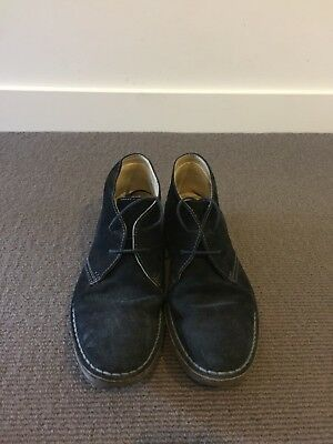 Mens Black Suede Loake Boots 7.5 Trickers