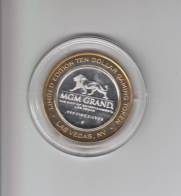 Mgm Grand Casino .999 Fine Silver Limited Edition Gaming Token