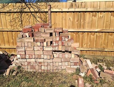 500 Approx Available - Red Bricks Recycled  Building Site Paving / Feature Wall