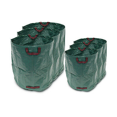 Set of 3 Garden Waste Bags, Foldable & Stand-Alone Yard Leaf Bag w/ Handles